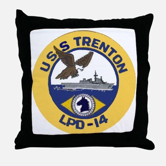 USS Trenton LPD 14 Throw Pillow