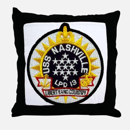 USS Nashville LPD 13 Throw Pillow