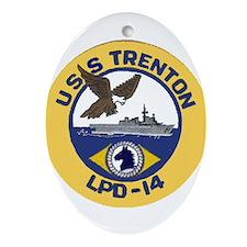USS Trenton LPD 14 Oval Ornament