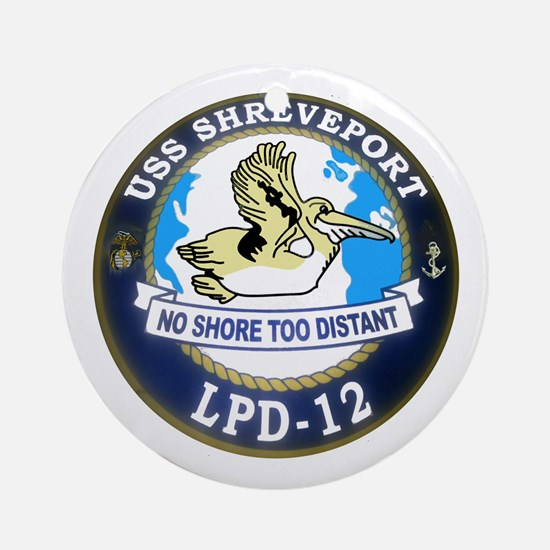USS Shreveport LPD 12 Ornament (Round)