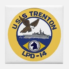 USS Trenton LPD 14 Tile Coaster