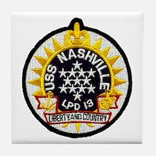 USS Nashville LPD 13 Tile Coaster