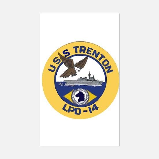 USS Trenton LPD 14 Rectangle Decal