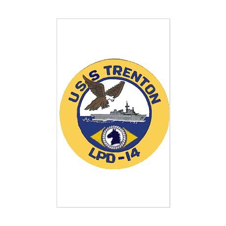 USS Trenton LPD 14 Rectangle Sticker