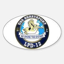 USS Shreveport LPD 12 Oval Decal