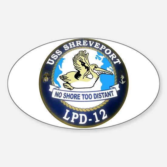 USS Shreveport LPD 12 Oval Decal