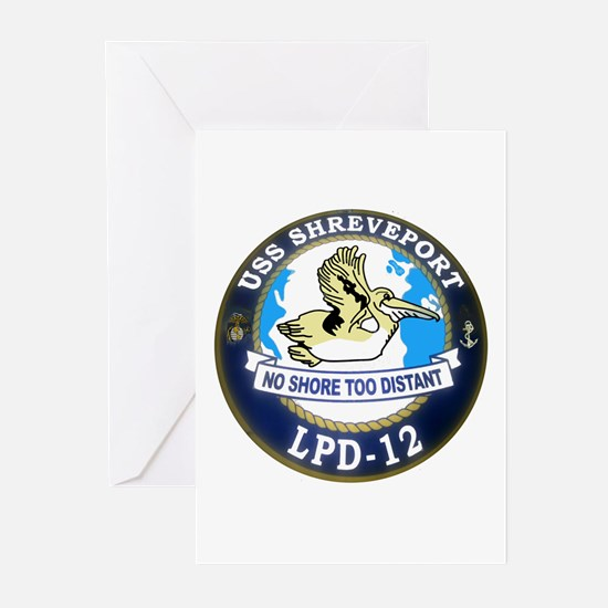 USS Shreveport LPD 12 Greeting Cards (Pk of 10)