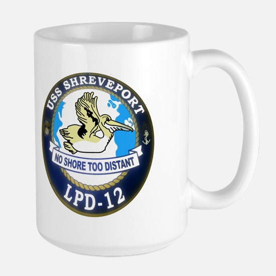 USS Shreveport LPD 12 Large Mug