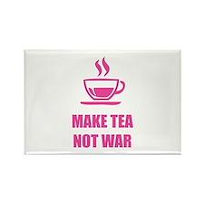 Make tea not war Rectangle Magnet