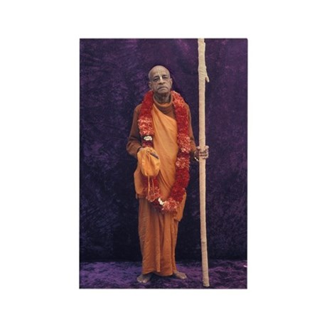 Srila Prabhupada [Purple] Rectangle Magnet