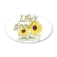 Life''s Good 22x14 Oval Wall Peel