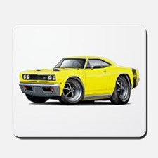 1969 Super Bee Yellow Car Mousepad