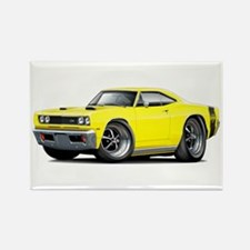 1969 Super Bee Yellow Car Rectangle Magnet