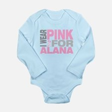 I wear pink for Alana Long Sleeve Infant Bodysuit