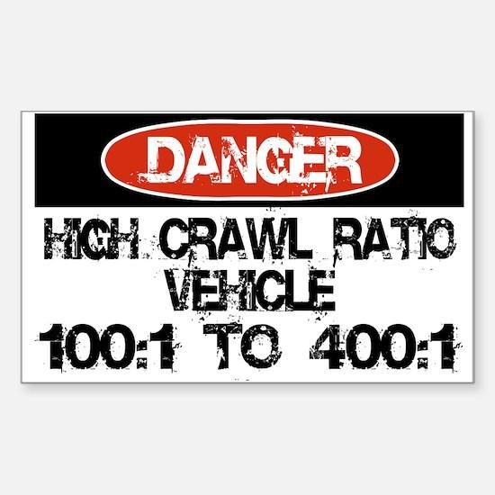 High Crawl Ratio Sticker (Rectangle)