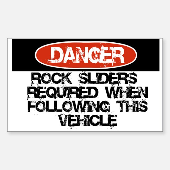 Rock Sliders Required Sticker (Rectangle)