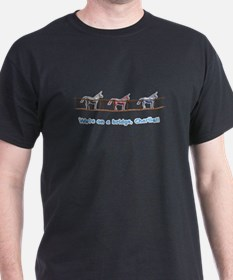 We're on a bridge, Charlie!! Black T-Shirt