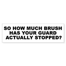 Brush Guard Bumper Sticker