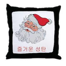 Korean Santa Throw Pillow