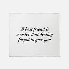 Best Friends Throw Blanket