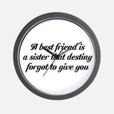 Best Friends Wall Clock