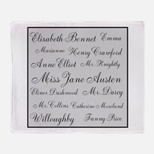 Jane Austen (silver) Throw Blanket