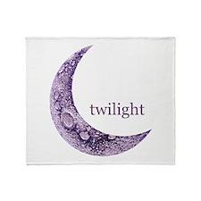 Twilight Quarter Moon Throw Blanket