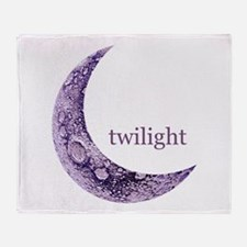 Twilight Quarter Moon Throw Blanket