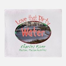 Love That Dirty Water Throw Blanket