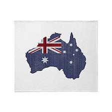 Surf Australia Throw Blanket