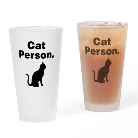 Cat Person. Drinking Glass
