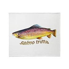 Salmo Trutta Throw Blanket