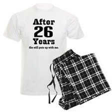 26th Anniversary Funny Quote Pajamas