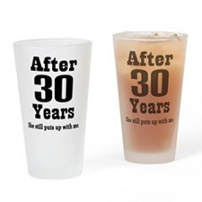 30th Anniversary Funny Quote Drinking Glass