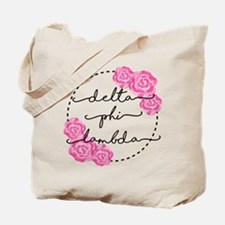 delta phi lambda floral Tote Bag