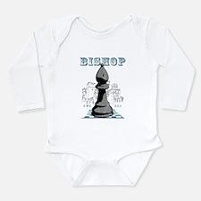 Black Bishop Chess Mate Long Sleeve Infant Bodysui