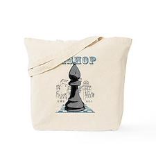 Black Bishop Chess Mate Tote Bag