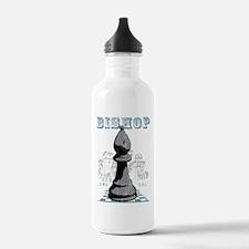 Black Bishop Chess Mate Water Bottle