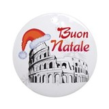Rome italy christmas Round Ornaments