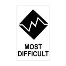 Most Difficult Trail Rating Decal