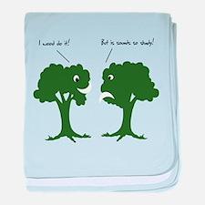 I Wood. Sounds Shady! Trees baby blanket
