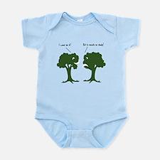 I Wood. Sounds Shady! Trees Infant Bodysuit