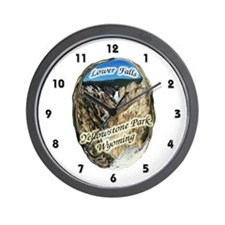 Lower Falls,Yellowstone Park Wall Clock