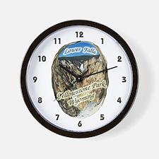 Lower Falls,Yellowstone Park Wall Clock