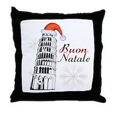 Buon Natale Pisa Throw Pillow