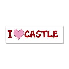 I Heart Castle Car Magnet 10 x 3