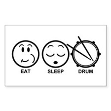 Eat Sleep Drum Decal