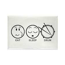 Eat Sleep Drum Rectangle Magnet