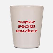 super social worker (Red) Shot Glass