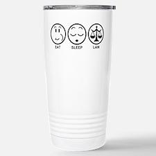 Eat Sleep Law Stainless Steel Travel Mug